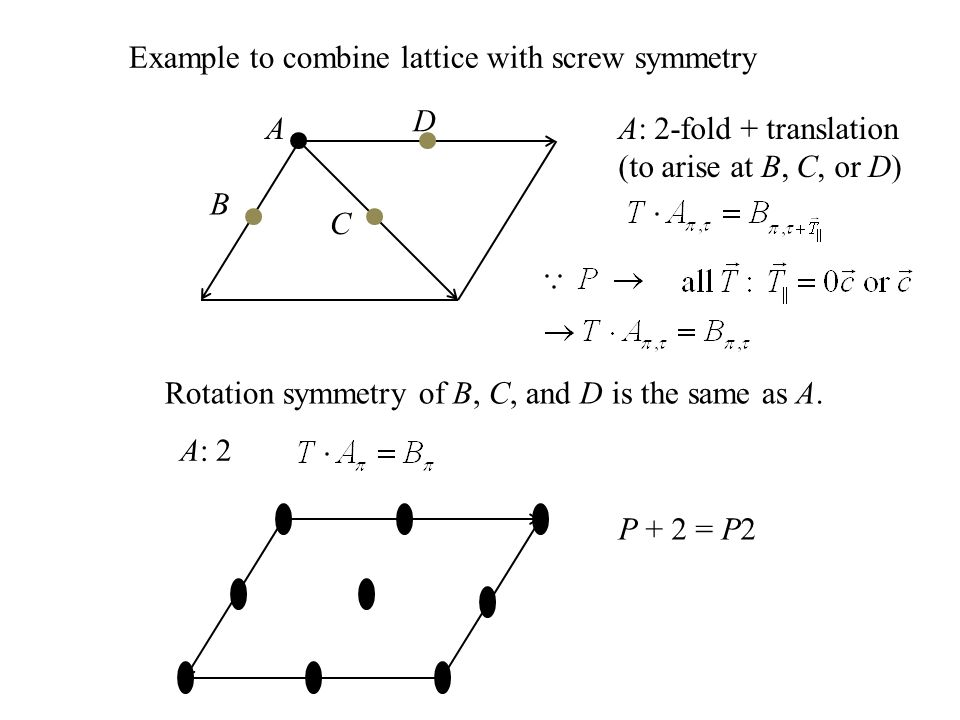 Example to combine lattice with screw symmetry