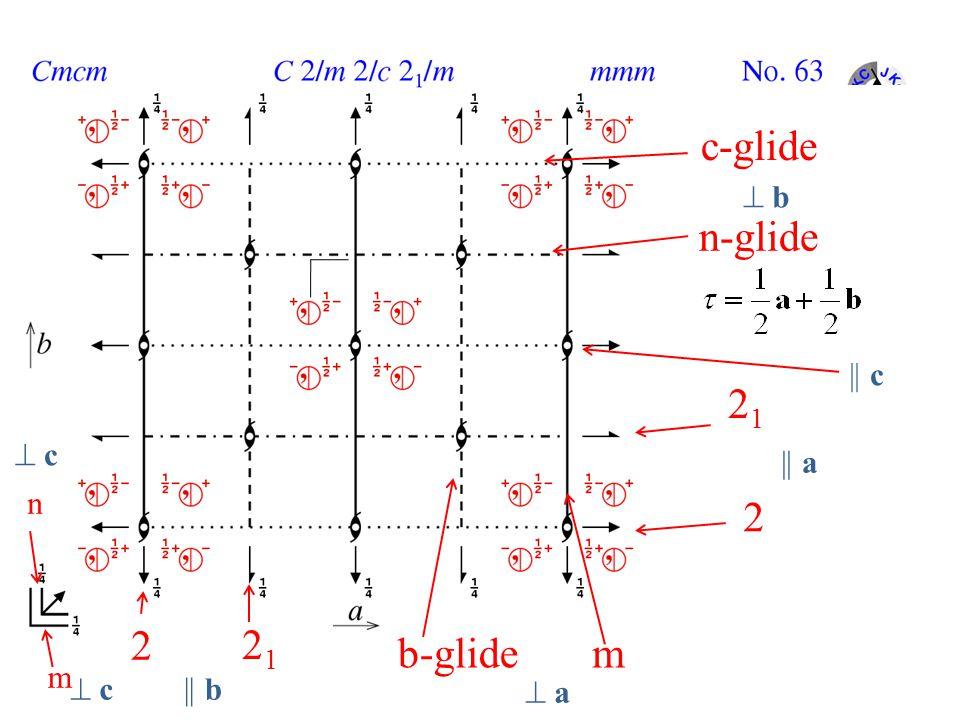 c-glide  b n-glide || c 21  c || a n 2 2 21 b-glide m m  c || b  a