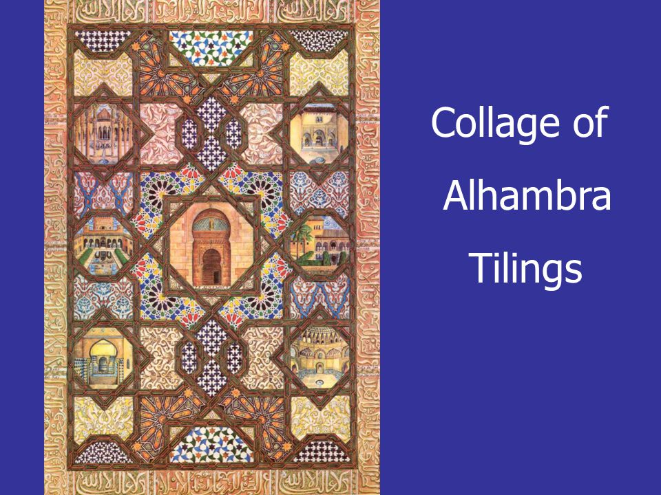 Collage of Alhambra Tilings