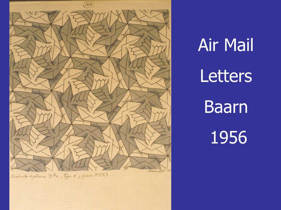 Air Mail Letters Baarn 1956