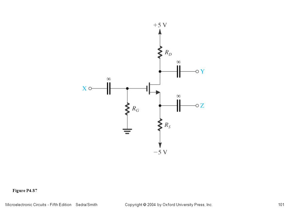 sedr42021_p04087.jpg Figure P4.87 Microelectronic Circuits - Fifth Edition Sedra/Smith
