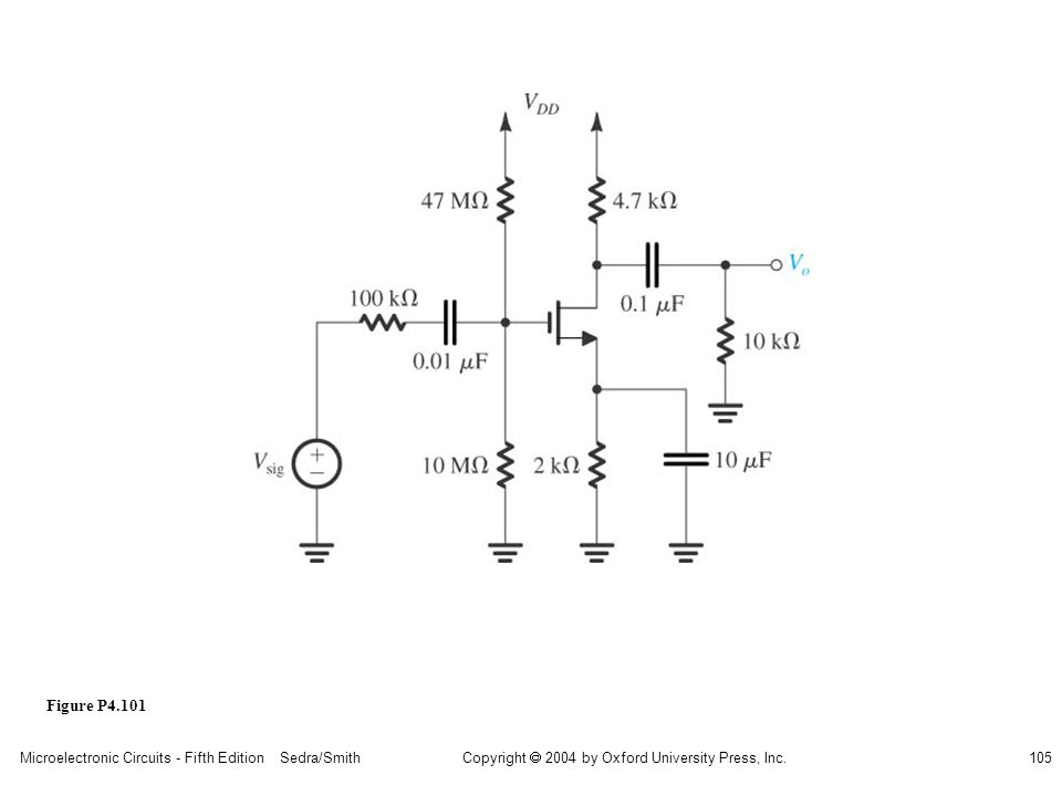 sedr42021_p04101.jpg Figure P4.101 Microelectronic Circuits - Fifth Edition Sedra/Smith