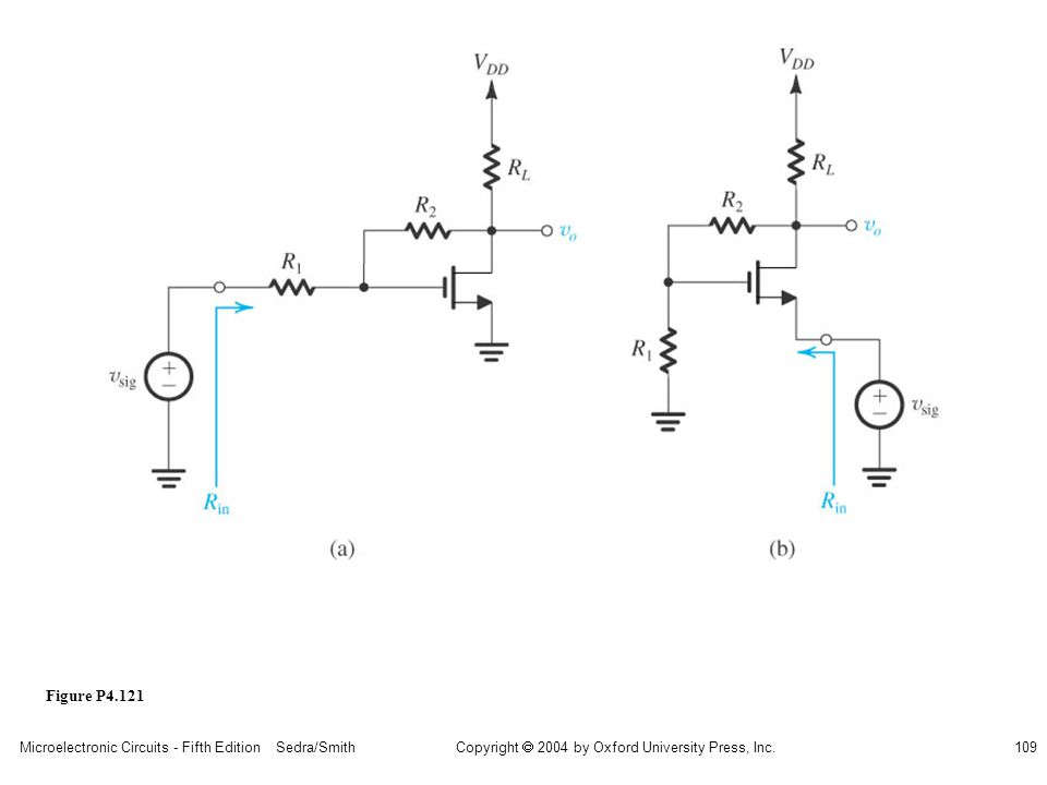 sedr42021_p04121a.jpg Figure P4.121 Microelectronic Circuits - Fifth Edition Sedra/Smith