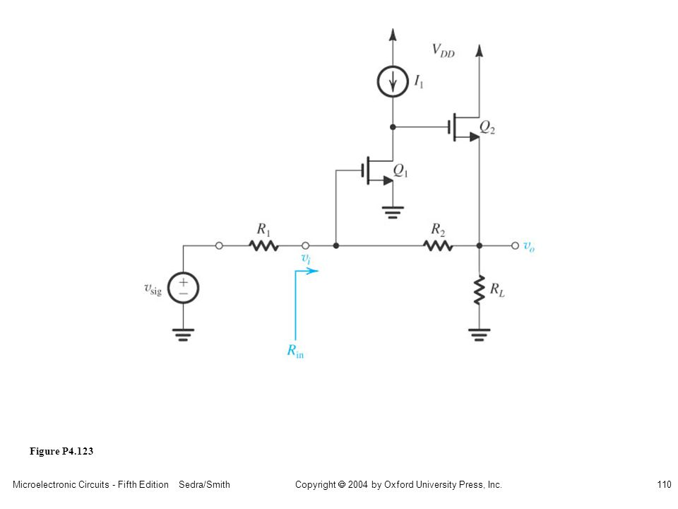 sedr42021_p04123.jpg Figure P4.123 Microelectronic Circuits - Fifth Edition Sedra/Smith
