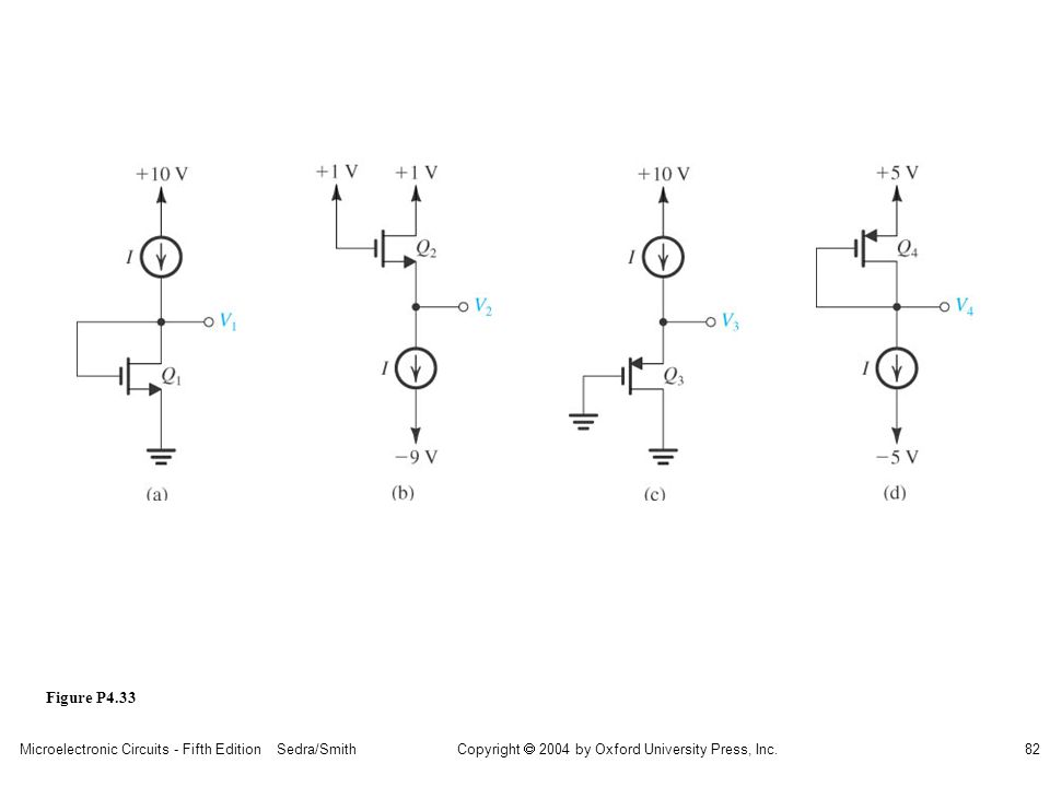 sedr42021_p04033a.jpg Figure P4.33 Microelectronic Circuits - Fifth Edition Sedra/Smith