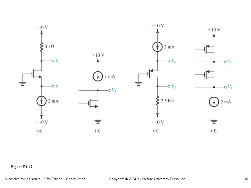 sedr42021_p04042a.jpg Figure P4.42 Microelectronic Circuits - Fifth Edition Sedra/Smith
