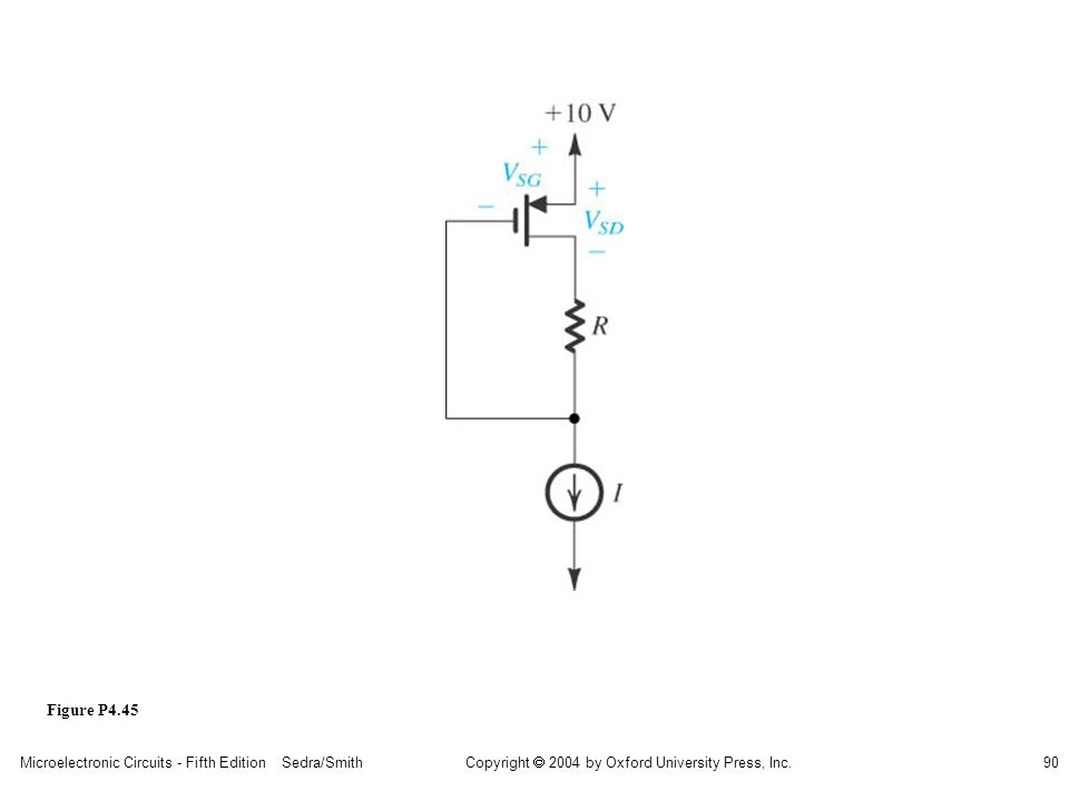 sedr42021_p04045.jpg Figure P4.45 Microelectronic Circuits - Fifth Edition Sedra/Smith