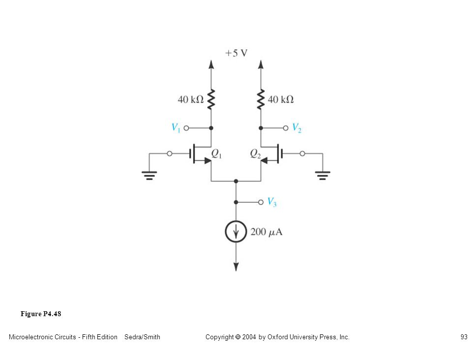 sedr42021_p04048.jpg Figure P4.48 Microelectronic Circuits - Fifth Edition Sedra/Smith