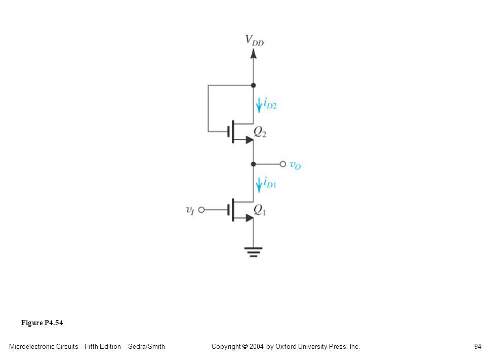 sedr42021_p04054.jpg Figure P4.54 Microelectronic Circuits - Fifth Edition Sedra/Smith