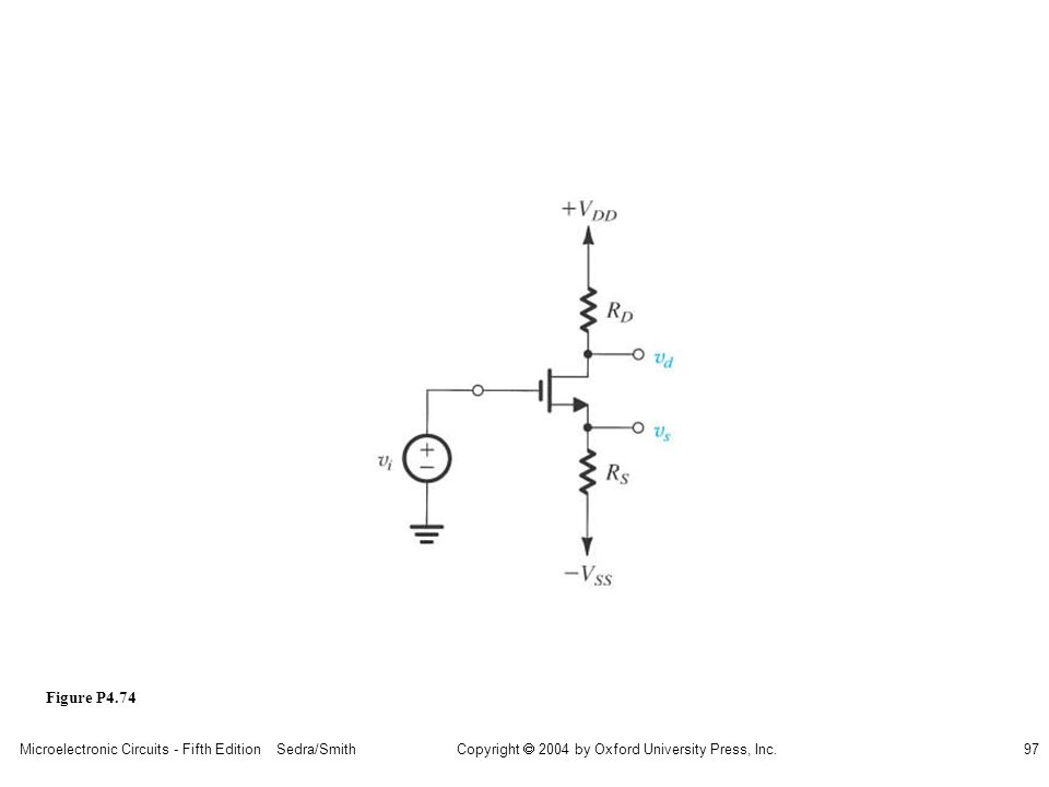 sedr42021_p04074.jpg Figure P4.74 Microelectronic Circuits - Fifth Edition Sedra/Smith