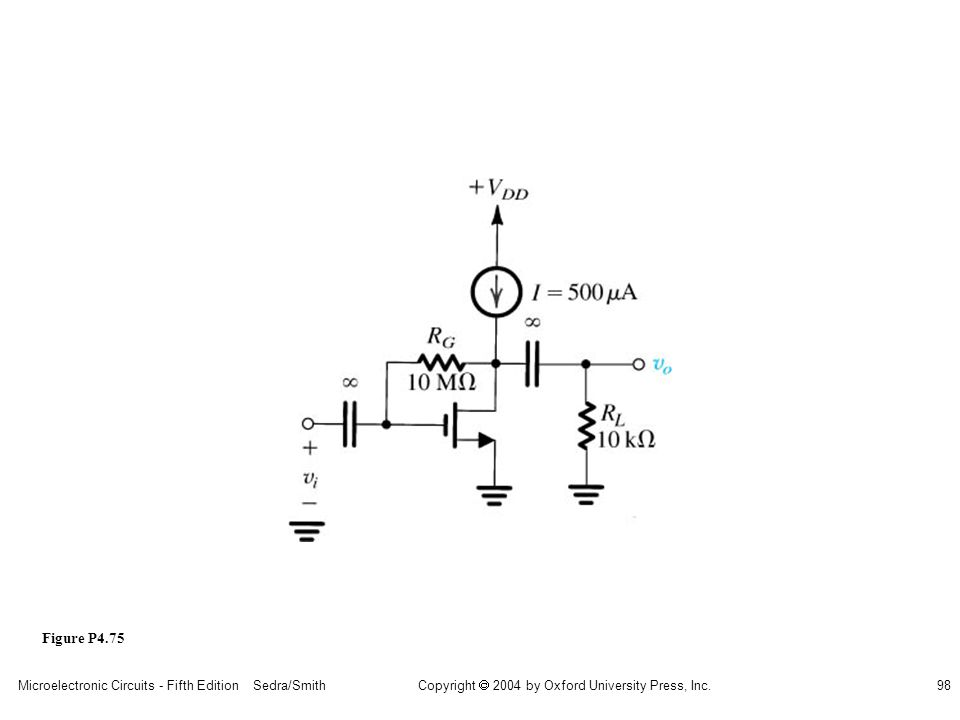 sedr42021_p04075.jpg Figure P4.75 Microelectronic Circuits - Fifth Edition Sedra/Smith