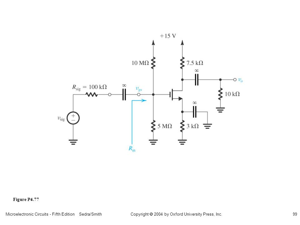 sedr42021_p04077.jpg Figure P4.77 Microelectronic Circuits - Fifth Edition Sedra/Smith