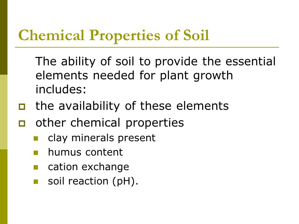 Chemical Properties of Soil