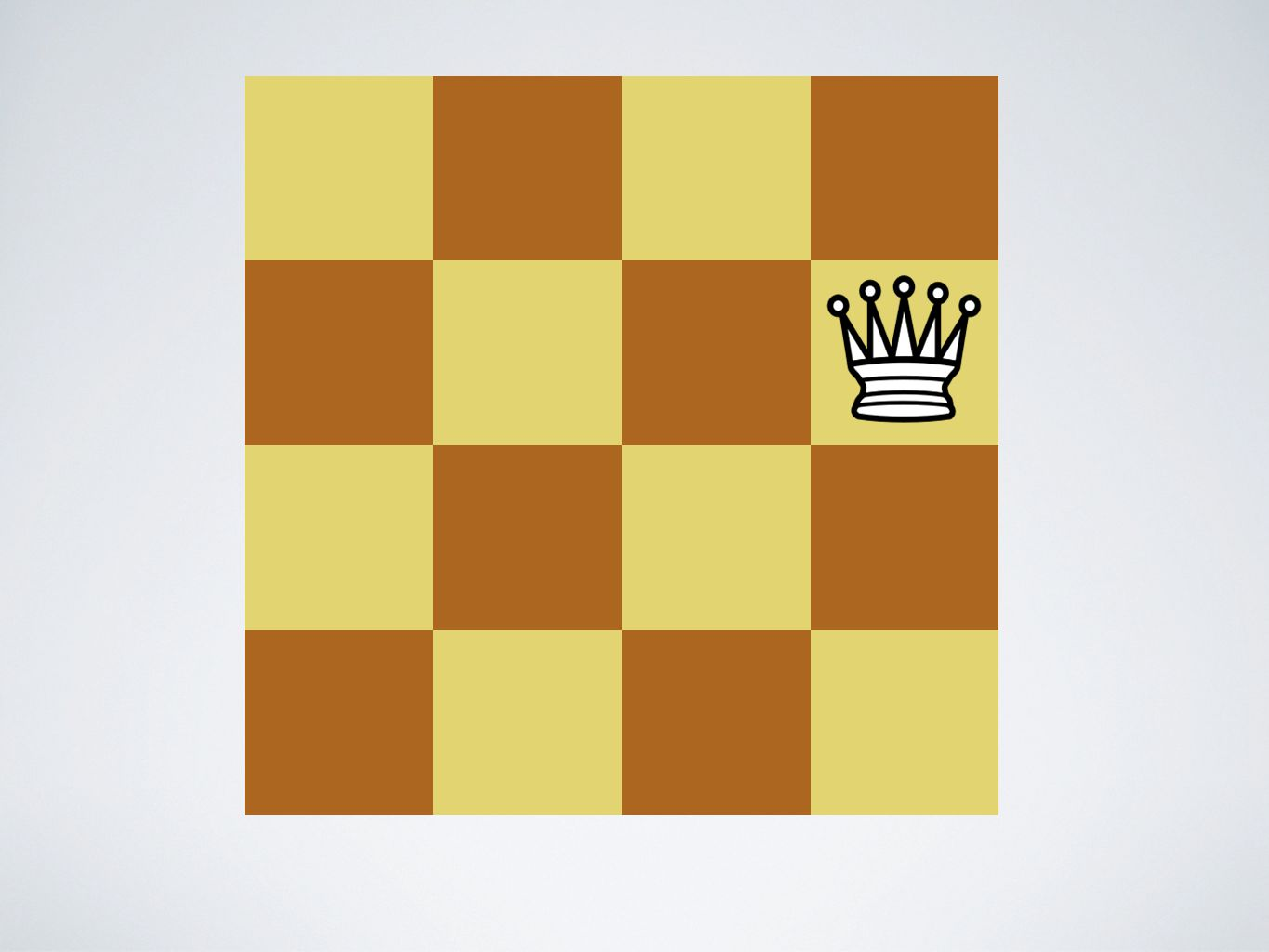 A1. Control: The queen takes the pawn.