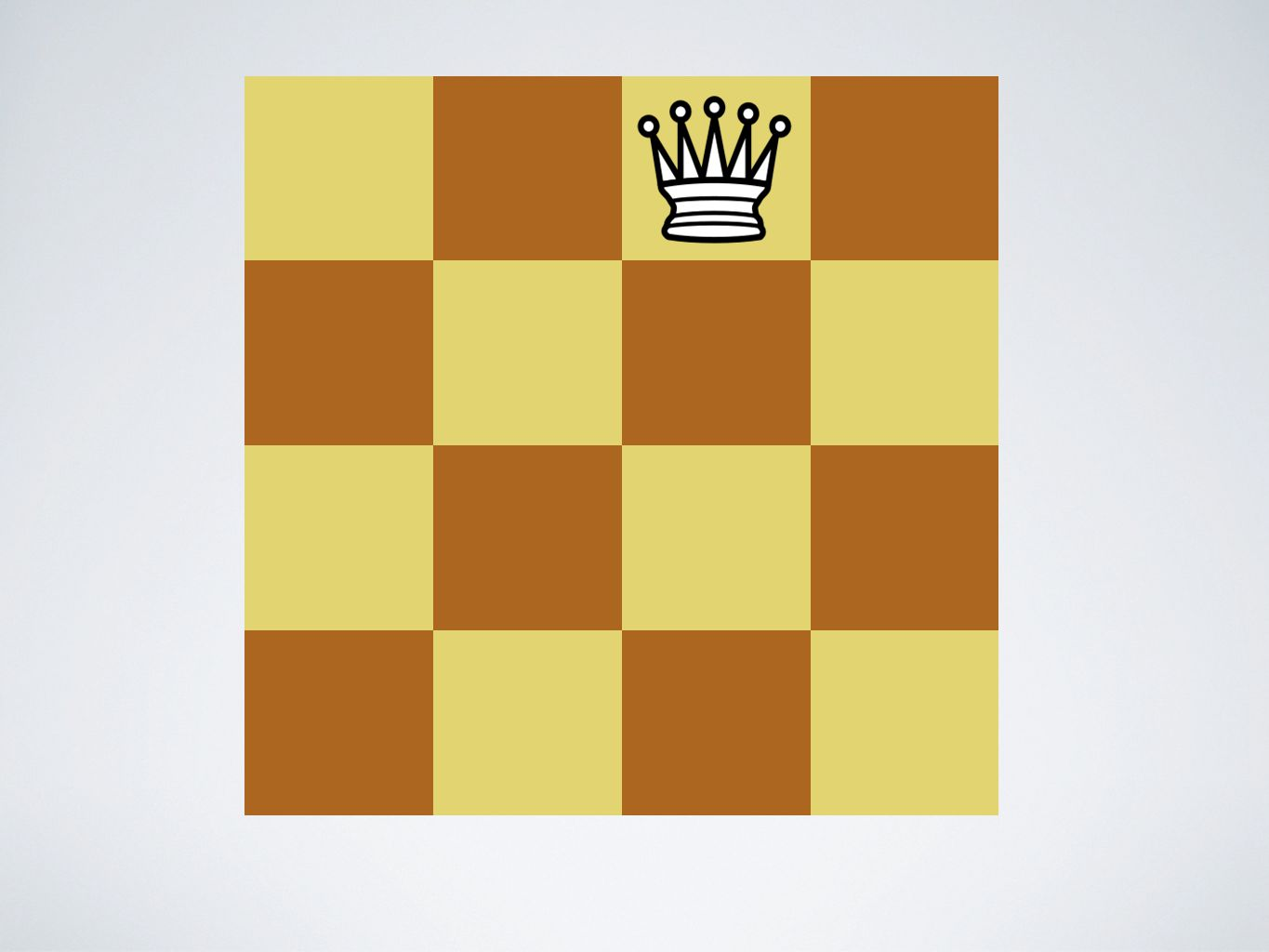 F1. Game Rule Violation: The queen takes the pawn.