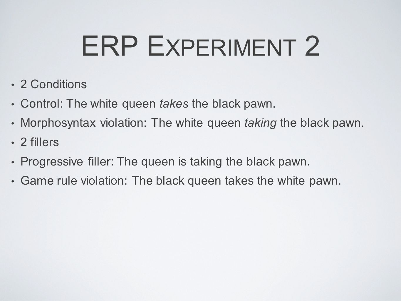 ERP Experiment 2 2 Conditions