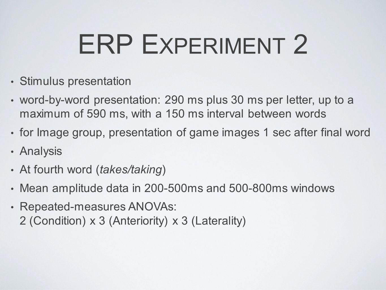 ERP Experiment 2 Stimulus presentation