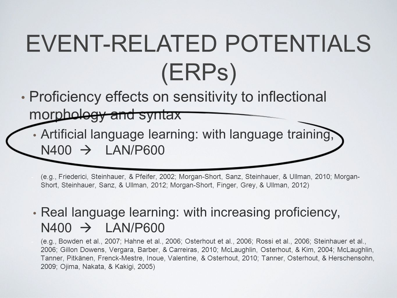 EVENT-RELATED POTENTIALS (ERPs)