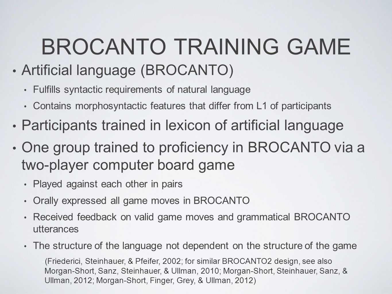 brocanto training game