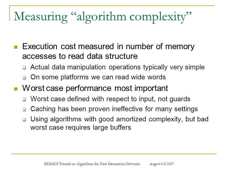 Measuring algorithm complexity