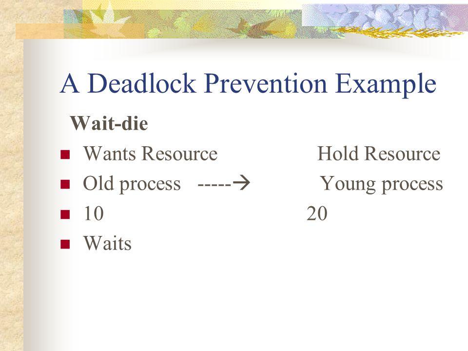 A Deadlock Prevention Example