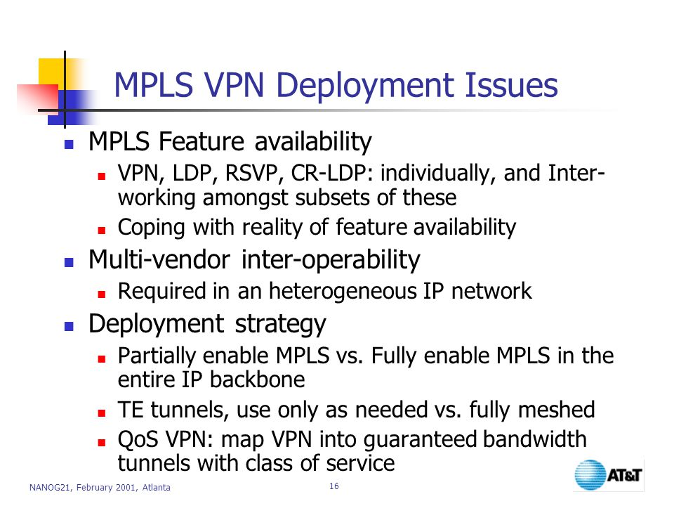 MPLS VPN Deployment Issues