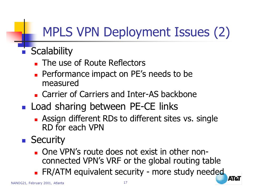 MPLS VPN Deployment Issues (2)