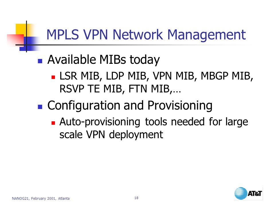 MPLS VPN Network Management