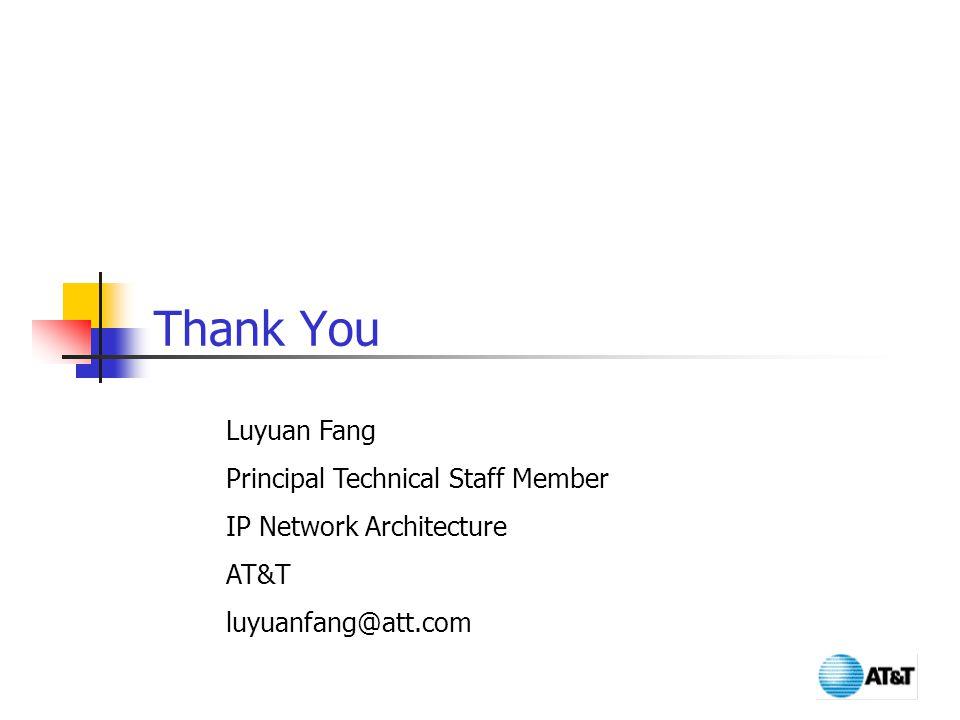 Thank You Luyuan Fang Principal Technical Staff Member