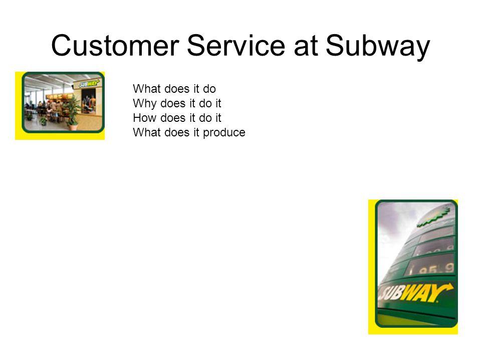 Customer Service at Subway