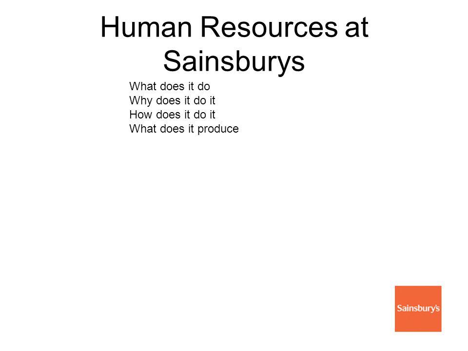 Human Resources at Sainsburys