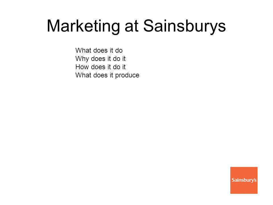 Marketing at Sainsburys