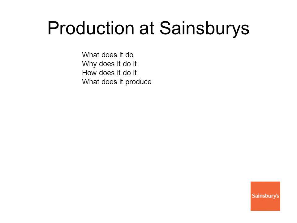 Production at Sainsburys