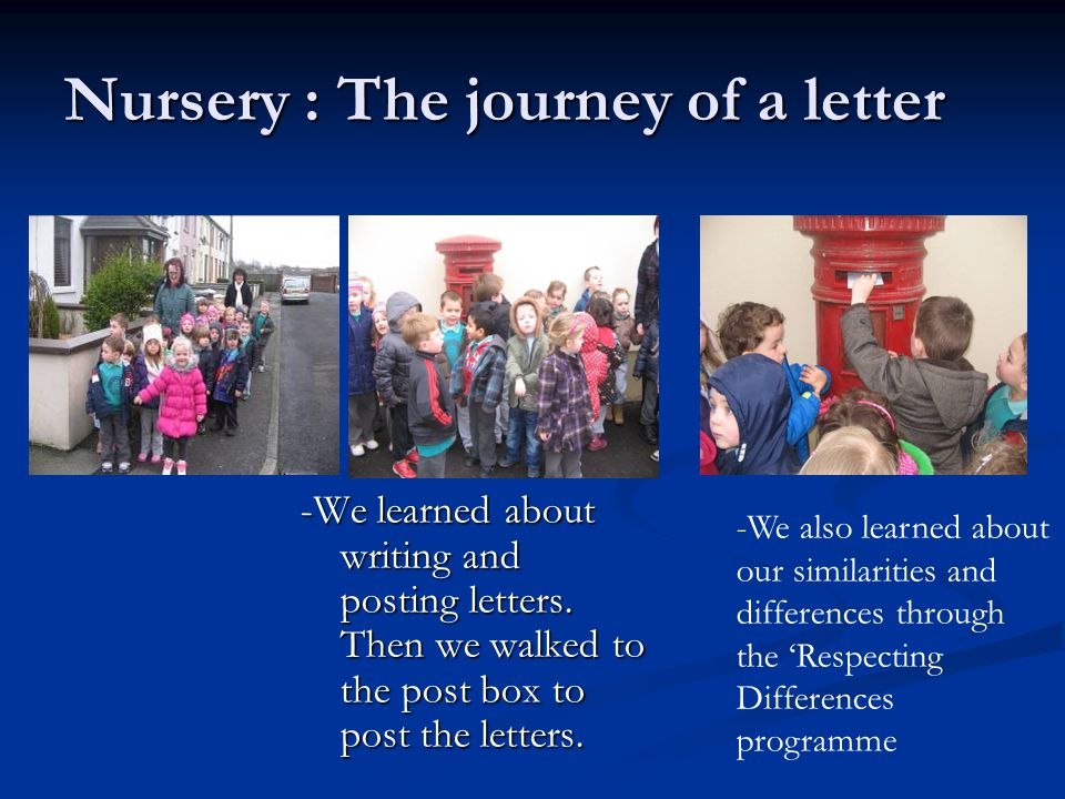 Nursery : The journey of a letter