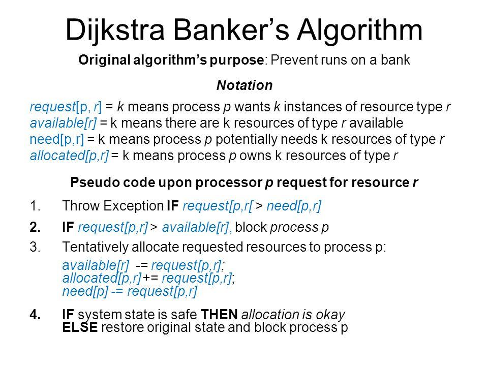 Dijkstra Banker's Algorithm