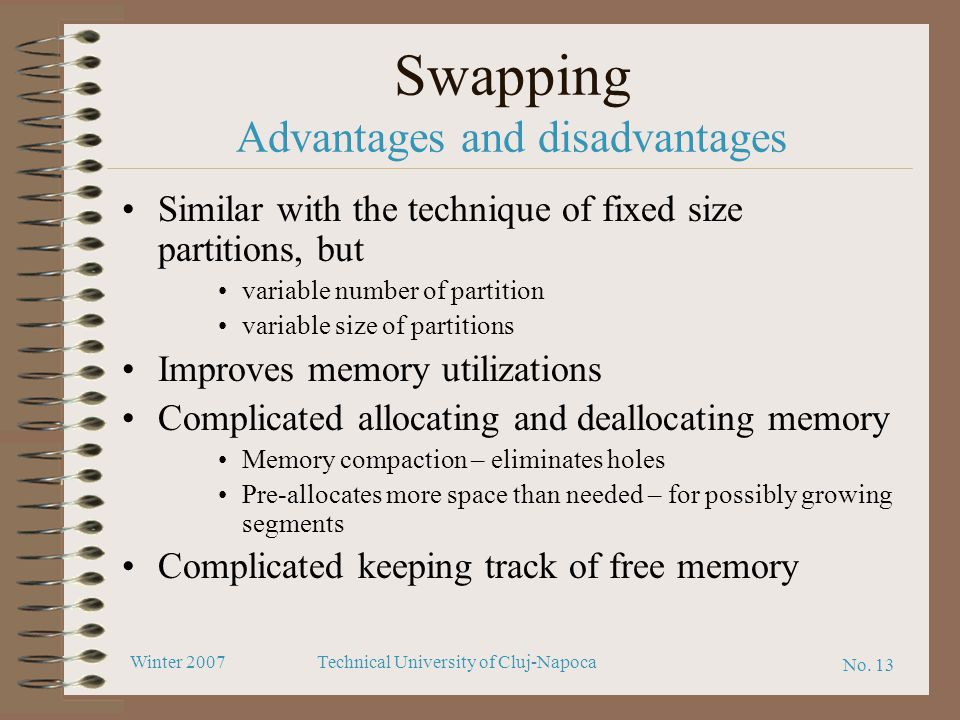 Swapping Advantages and disadvantages