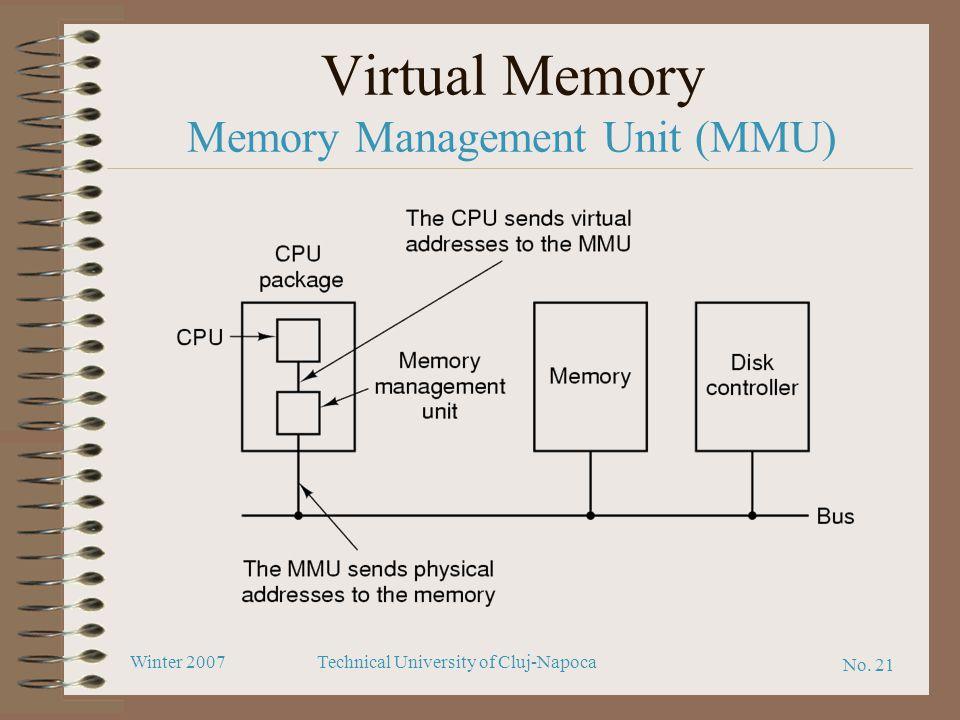 Virtual Memory Memory Management Unit (MMU)