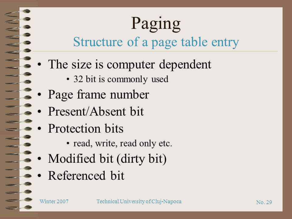 Paging Structure of a page table entry