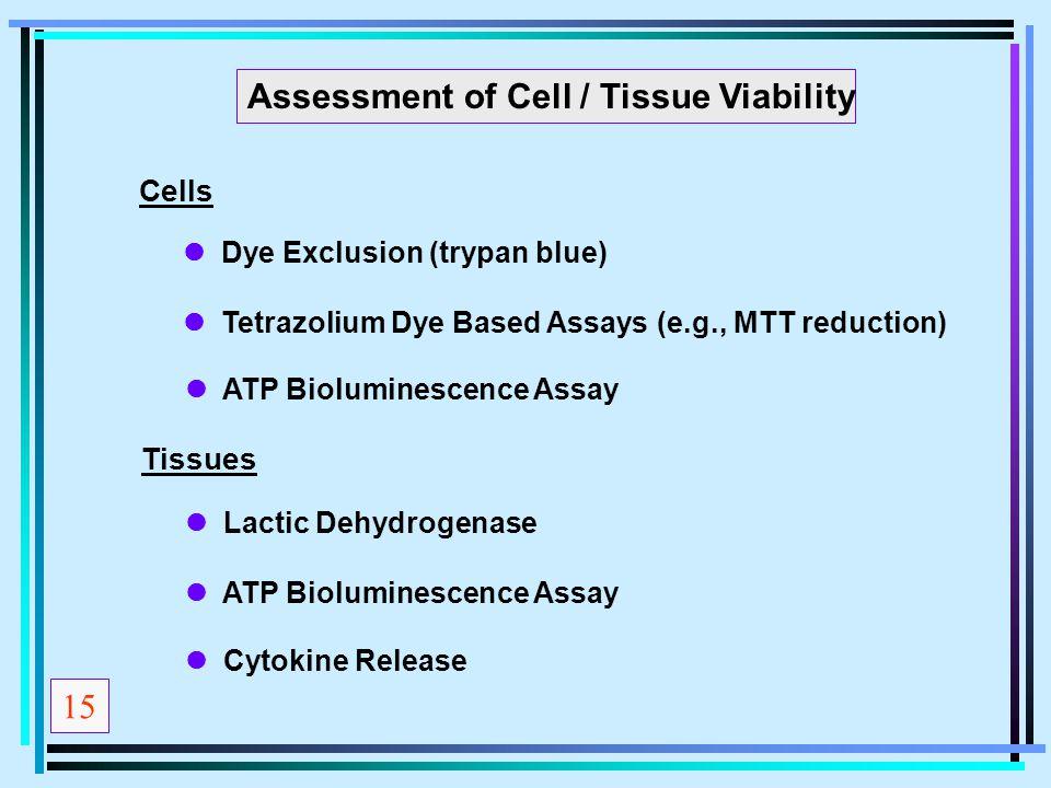 Assessment of Cell / Tissue Viability