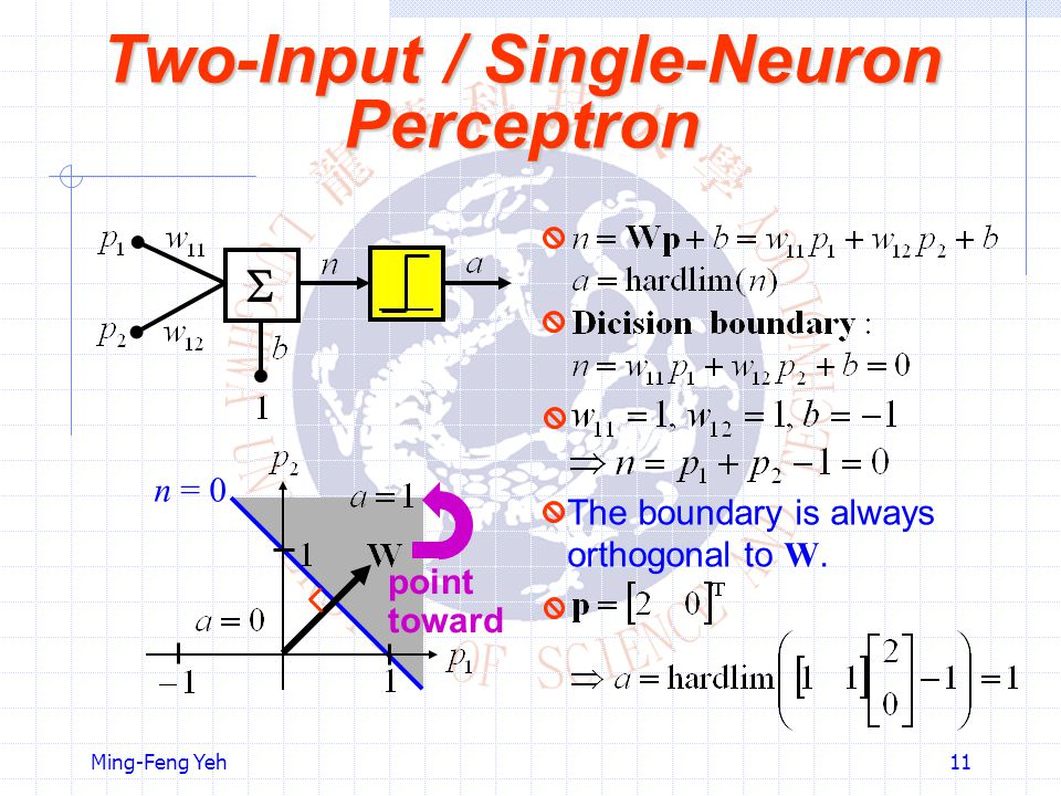 Two-Input / Single-Neuron Perceptron