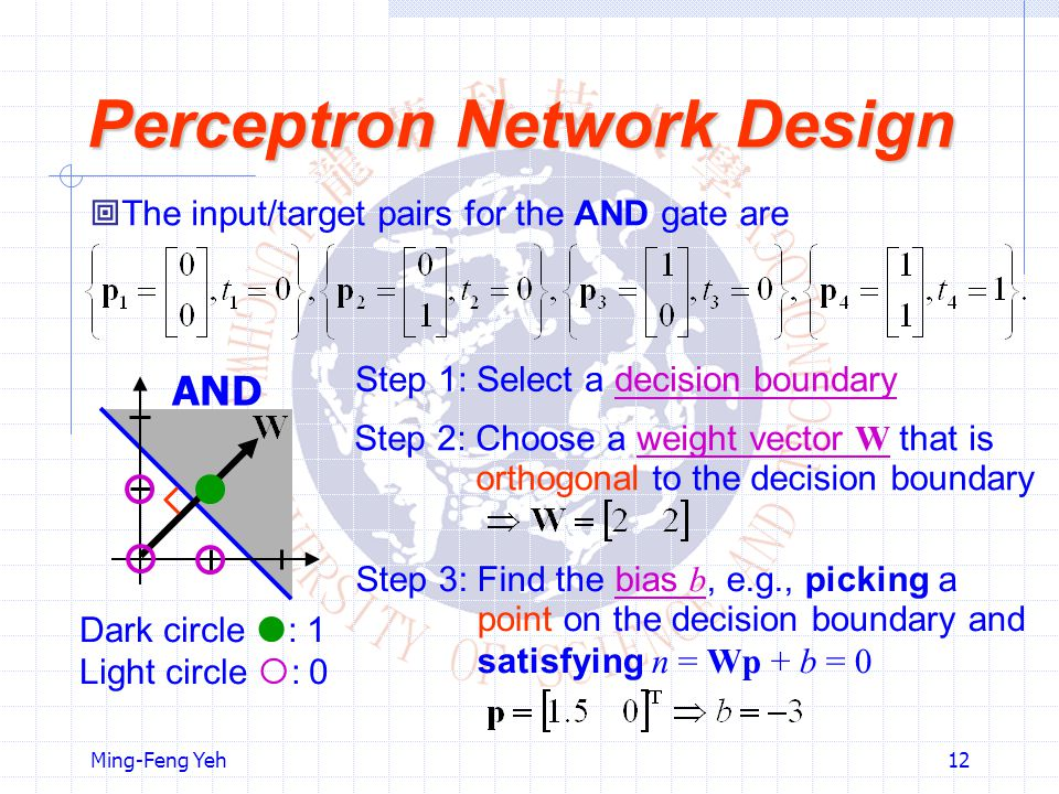 Perceptron Network Design