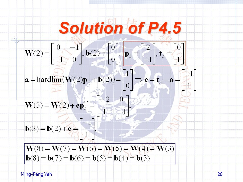Solution of P4.5 Ming-Feng Yeh
