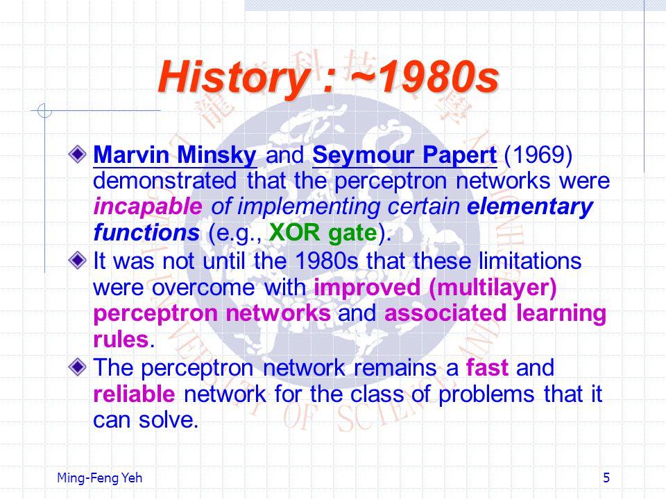 History : ~1980s