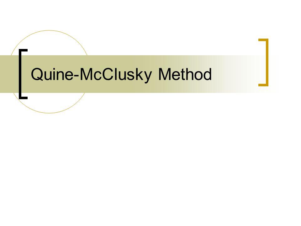 Quine-McClusky Method