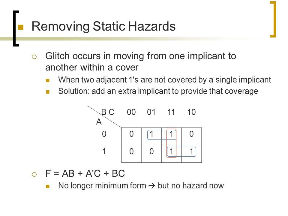Removing Static Hazards