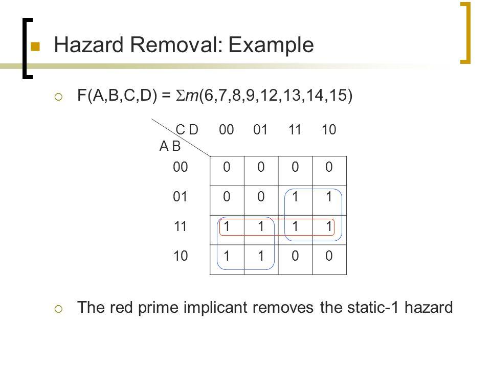 Hazard Removal: Example