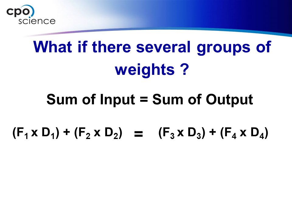What if there several groups of weights