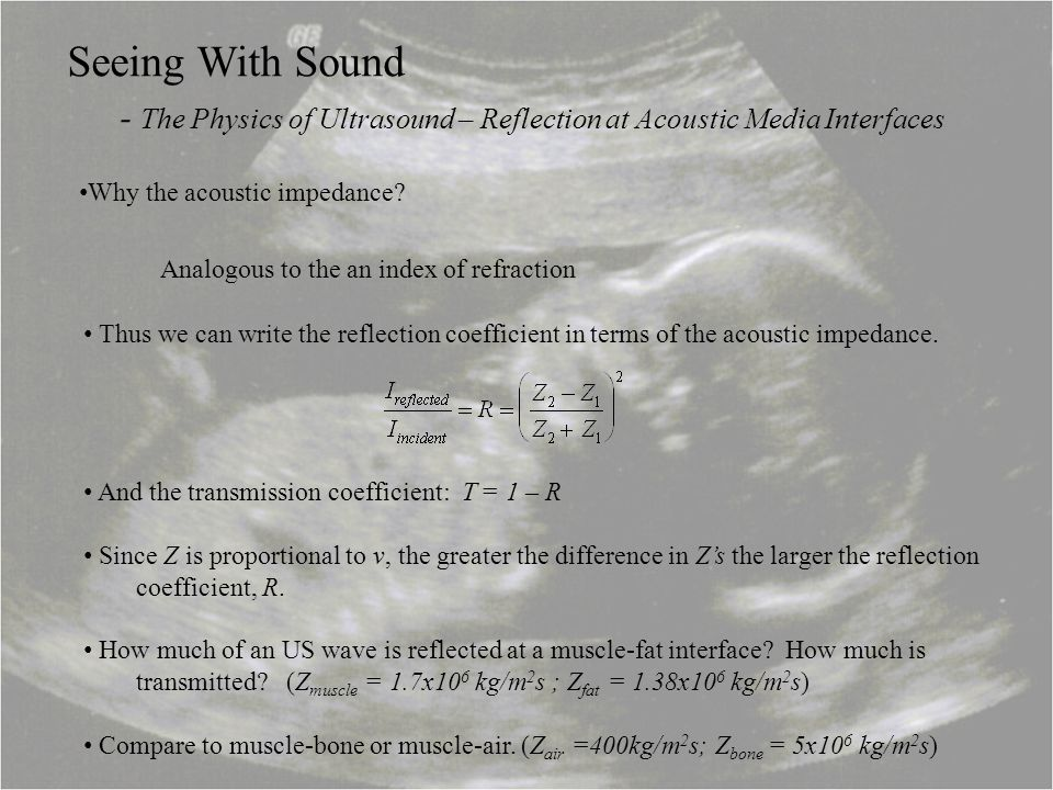 - The Physics of Ultrasound – Reflection at Acoustic Media Interfaces