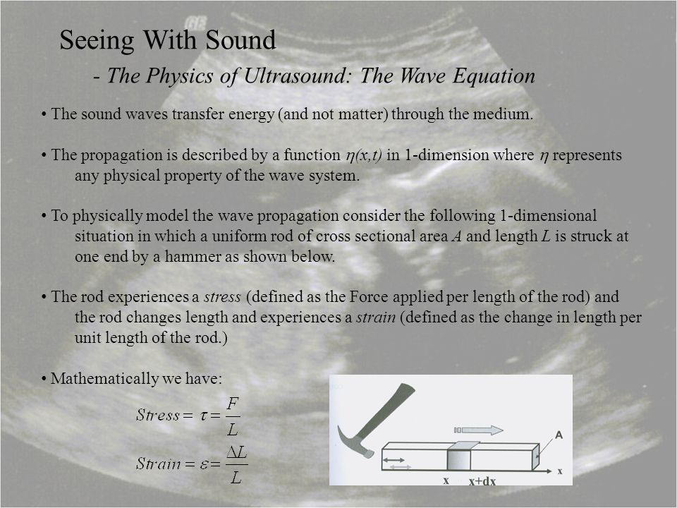 - The Physics of Ultrasound: The Wave Equation