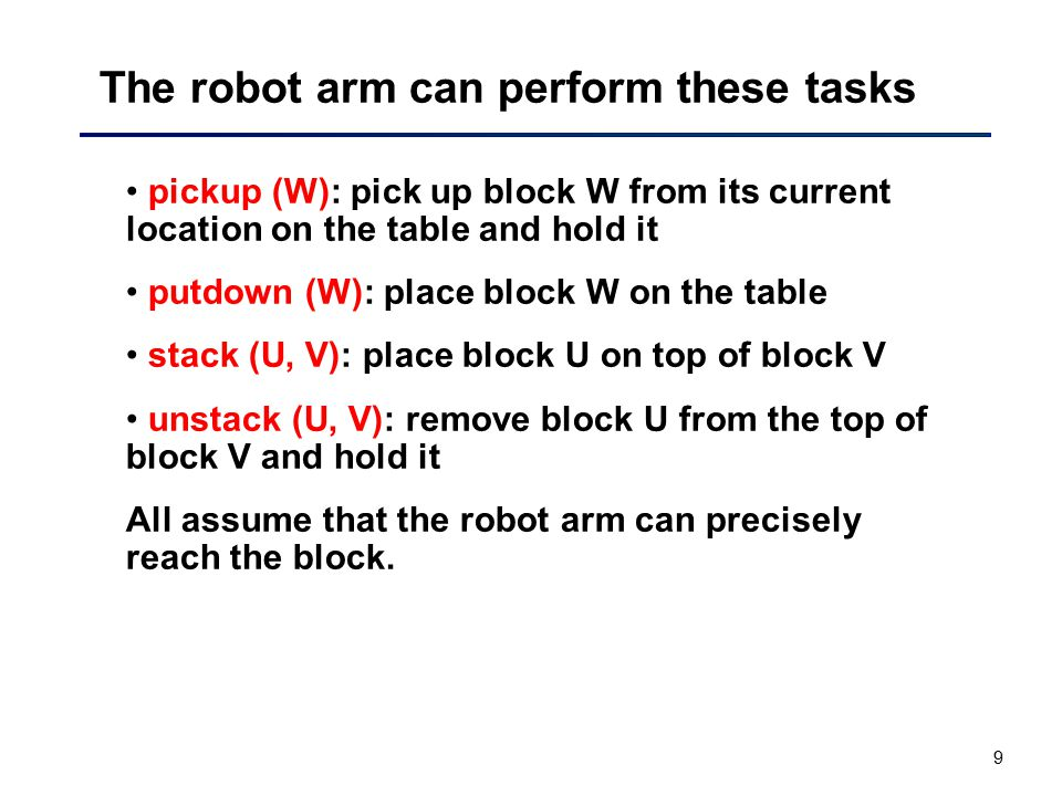 The robot arm can perform these tasks